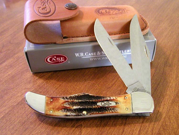 case bone stag knives